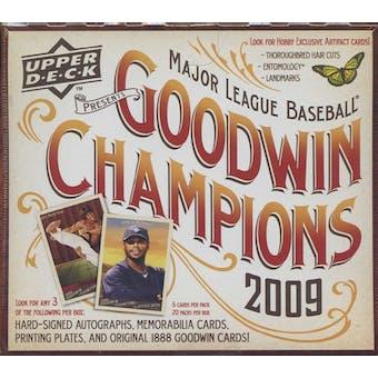 2009 Upper Deck Goodwin Champions Baseball Hobby Box