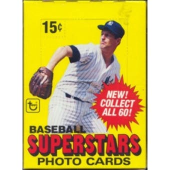 1980 Topps Superstars Photo Cards Baseball Wax Box