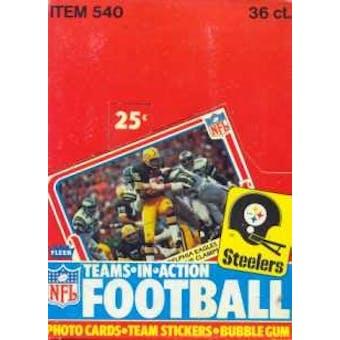1980 Fleer in Action Football Wax Box