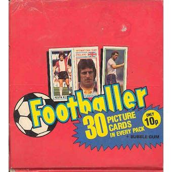 1980/81 Topps Soccer (Footballer) Wax Box