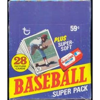 1980 Topps Baseball Super Cello Box