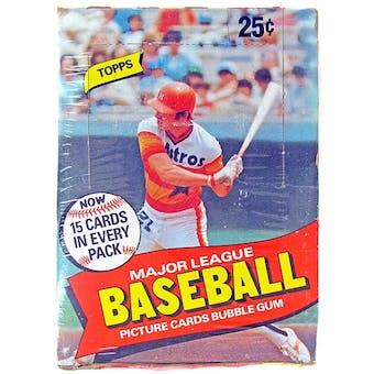 1980 Topps Baseball Wax Box