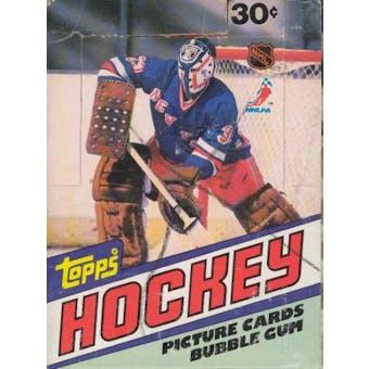 1981/82 Topps Hockey Wax Box