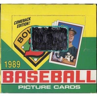 1989 Bowman Baseball Jumbo Box