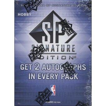 2009/10 Upper Deck SP Signature Edition Basketball Hobby Box