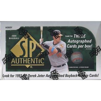 2009 Upper Deck SP Authentic Baseball Hobby Box