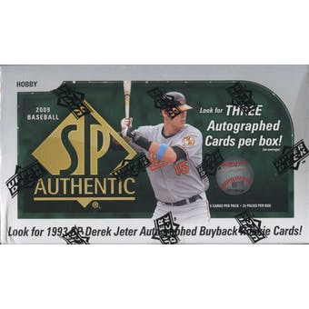 2009 Upper Deck SP Authentic Baseball Hobby Box