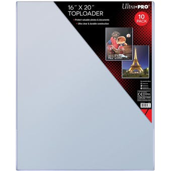 """Ultra Pro 16""""x20"""" Toploaders (10 Count Pack)"""