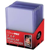 Ultra Pro 3x4 Regular Toploaders (Lite) (25 Count Pack)
