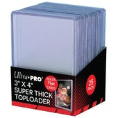 Ultra Pro 3x4 Super Thick 75pt. Toploaders (25 Count Pack)