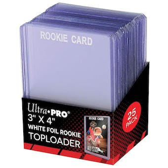 Ultra Pro 3x4 Rookie White Toploaders (25 Count Pack)