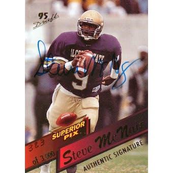 1995 Superior Pix Autographs #3 Steve McNair RC /3000