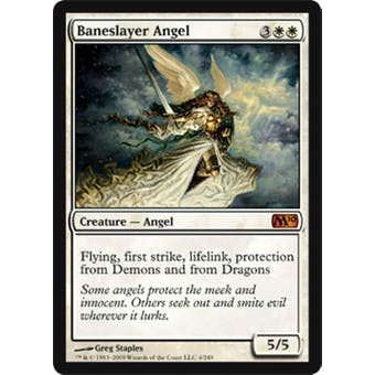Magic the Gathering 2010 Single Baneslayer Angel FOIL NEAR MINT (NM)