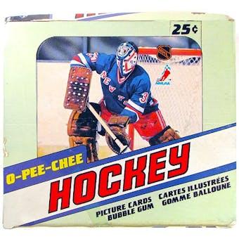 1981/82 O-Pee-Chee Hockey Wax Box