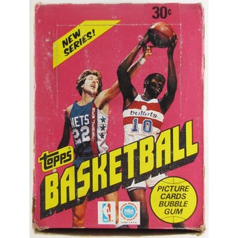 1981/82 Topps Basketball Wax Box