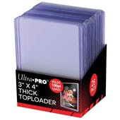 Ultra Pro 3x4 Super Thick 100pt. Toploaders 1000 Count Case