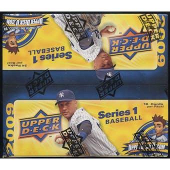 2009 Upper Deck Series 1 Baseball 24-Pack Box