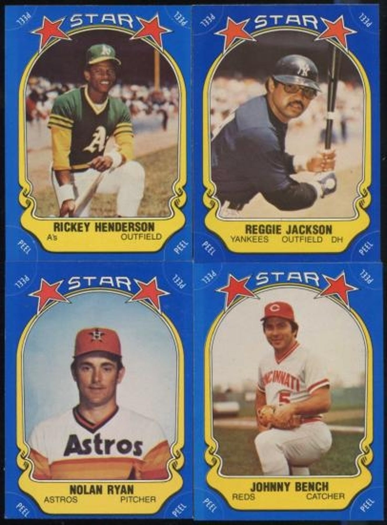 1981 Fleer Star Stickers Baseball Complete Set Nm Da