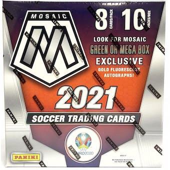 2020/21 Panini Mosaic UEFA Euro 2020 Soccer Mega Box (Gold Fluorescent Parallels)