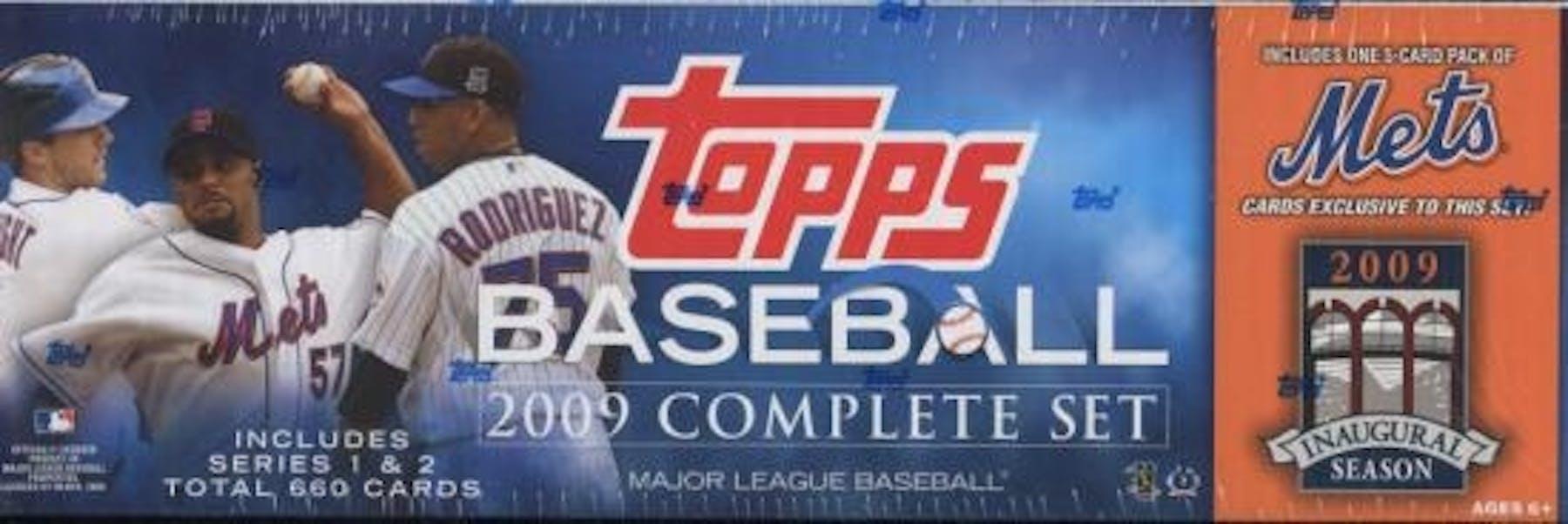 2009 Topps Factory Set Baseball Box New York Mets Da Card