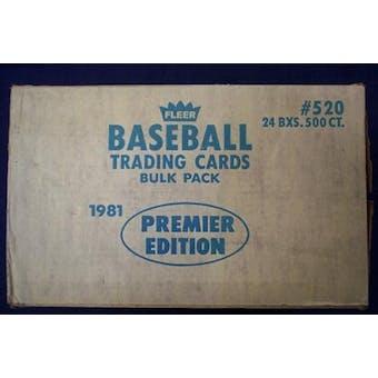 1981 Fleer Baseball Vending 24-Box Case