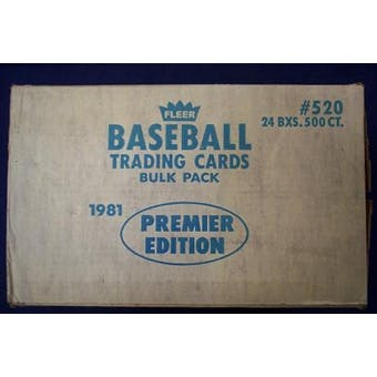 1981 Fleer Baseball Vending 24-Box Case