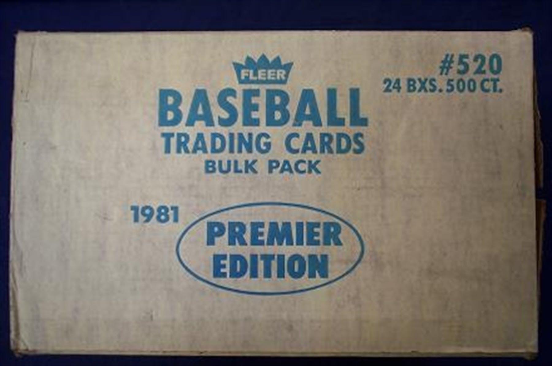 1981 Fleer Baseball Vending 24 Box Case Da Card World