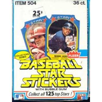1981 Fleer Star Stickers Baseball Wax Box