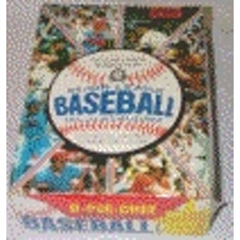 1981 O-Pee-Chee Baseball Wax Box