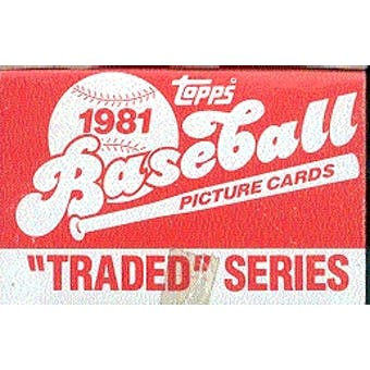 1981 Topps Traded & Rookies Baseball 100 Set Case