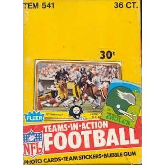 1981 Fleer in Action Football Wax Box