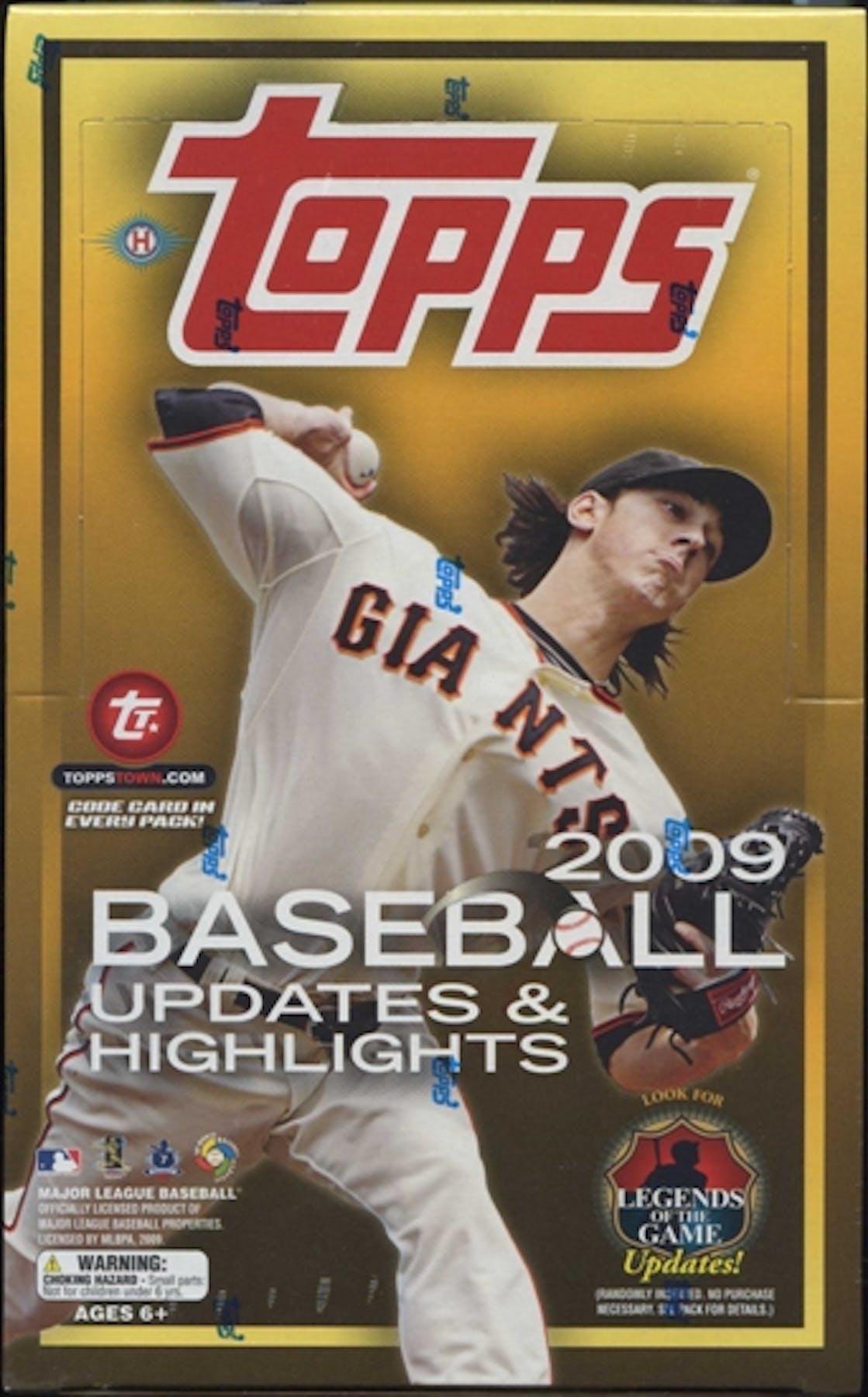 2009 Topps Updates Highlights Baseball Hobby Box Da Card World