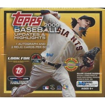 2009 Topps Updates & Highlights Baseball Jumbo Box