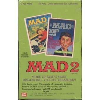 Mad Series 2 Hobby Box (1992 Lime Rock) (Reed Buy)
