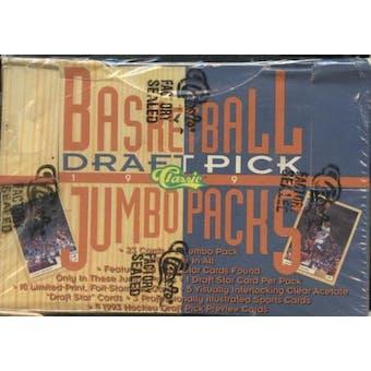 1993/94 Classic Draft Picks & Prospects Basketball Jumbo Box