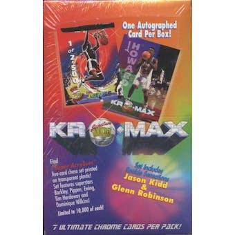 1994/95 Signature Rookies Kromax Basketball Hobby Box