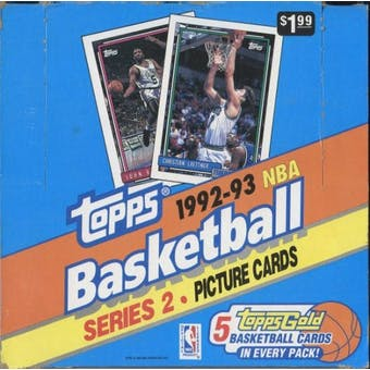 1992/93 Topps Series 2 Basketball Super Jumbo Box