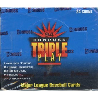1994 Donruss Triple Play Baseball Jumbo Box
