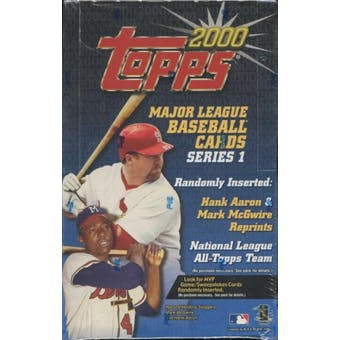 2000 Topps Series 1 Baseball Retail Box