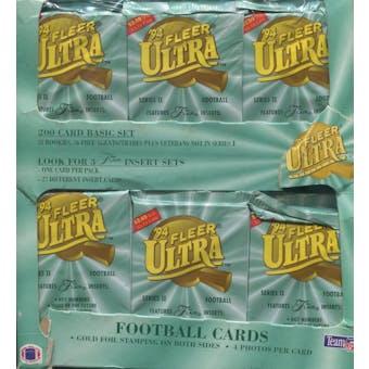 1994 Fleer Ultra Series 2 Football Jumbo Box