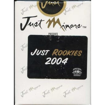 2004 Just Minors Just Rookies Baseball Factory Set (Box)