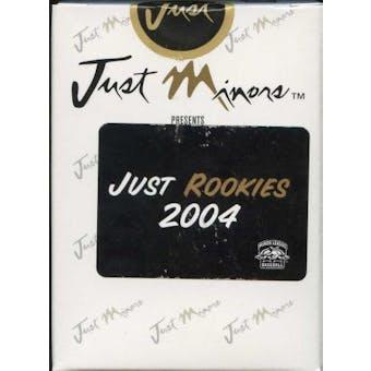 2004 Just Minors Just Rookies Baseball Factory Set (Box)