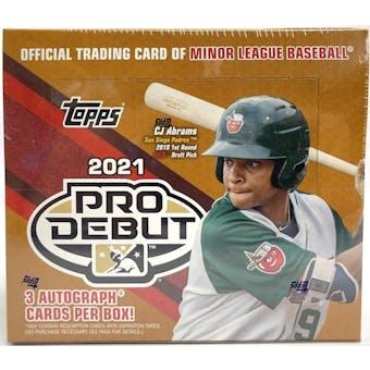2021 Topps Pro Debut Baseball Hobby Jumbo Box