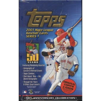 2001 Topps Series 1 Baseball 36 Pack Box