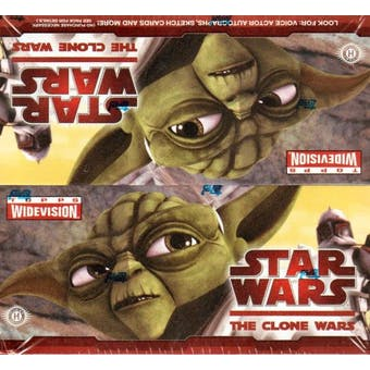 Star Wars Clone Wars Widevision Hobby Box (2009 Topps)