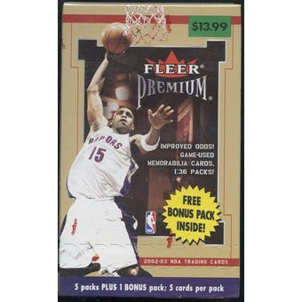 2002/03 Fleer Premium Basketball Blaster Box