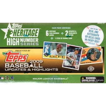2009 Topps Heritage High Number Baseball Hobby Box