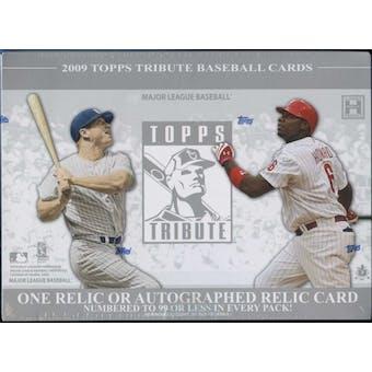 2009 Topps Tribute Baseball Hobby Box
