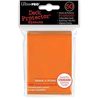 Ultra Pro Orange Deck Protectors 50 Count Pack