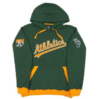 Oakland Athletics Majestic Green Third Wind Fleece Hoodie (Adult Large)